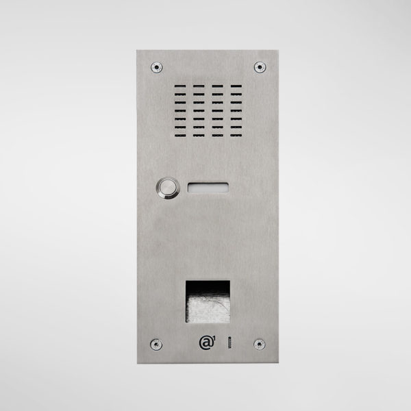71664 Allgood Secure Audio Entry Panel With 1 Call Button & Access Control Reader Aperture