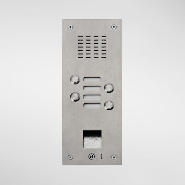 71667 Allgood Secure Audio Entry Panel with 4 Call Buttons and Access Control Reader Aperture