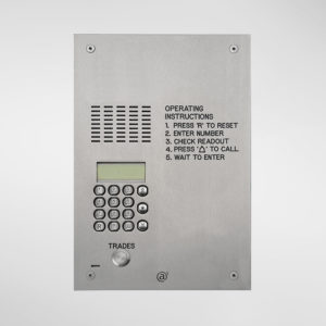 71668 Allgood Secure Audio Entry Panel With Digital Dial Keypad