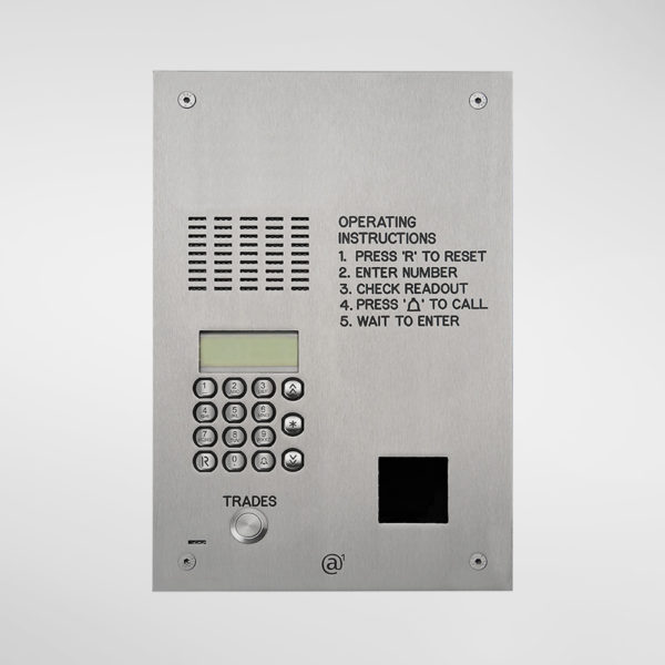 71669 Allgood Secure Audio Entry Panel With Digital Dial Keypad & Access Control Reader Aperture