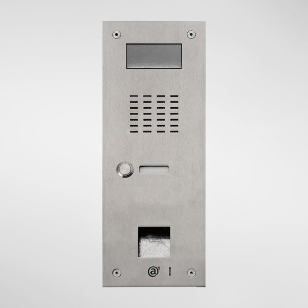71674 Allgood Secure AV Entry Panel With 1 Call Button & Access Control Reader Aperture