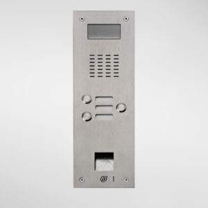 71676 Allgood Secure AV Entry Panel With 3 Call Buttons & Access Control Reader Aperture