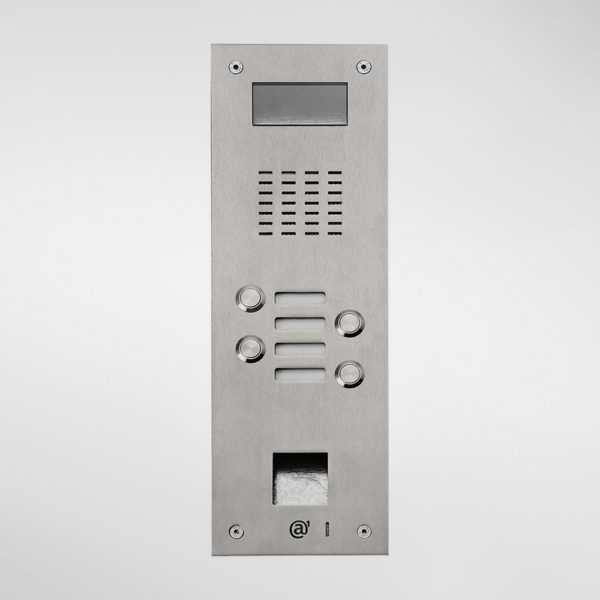 71677 Allgood Secure AV Entry Panel With 4 Call Buttons & Access Control Reader Aperture
