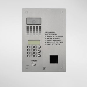 71679 Allgood Secure AV Panel With Digital Dial Keypad & Access Control Reader Aperture