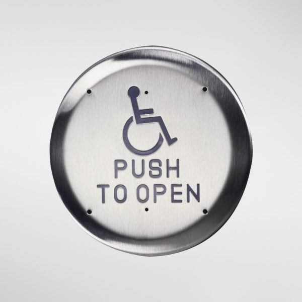71921 Allgood Secure Circular 'Disabled Push To Open' Push Pad