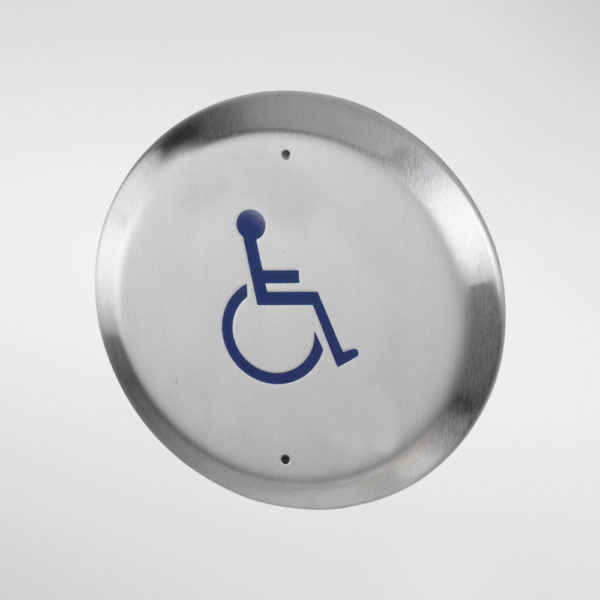 71922 Allgood Secure Circular Push Pad Engraved With Disabled Logo