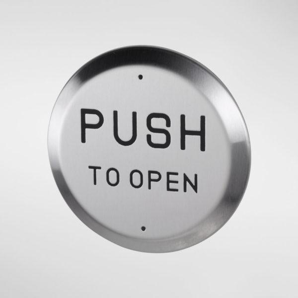 71923 Allgood Secure Circular 'PUSH TO OPEN' Push Pad