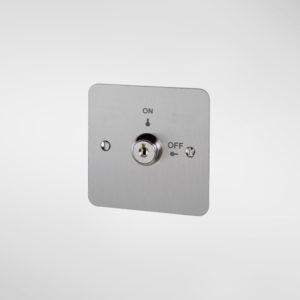 79721/79721 Allgood Secure Momentary Contact Key Switch Plate with 'ON' and 'OFF' Text