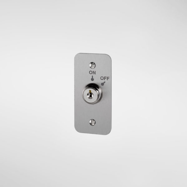79735 Allgood Secure Narrow Style Maintained Contact Key Switch Plate with 'ON' and 'OFF' Text