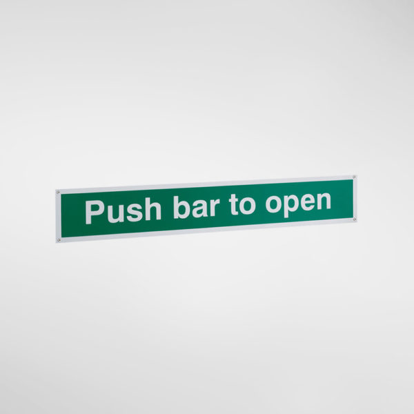 30057 Allgood Hardware Push Bar to Open Sign