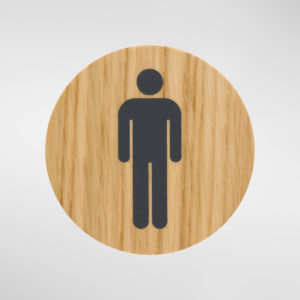 Holt Circular Pictogram Self Adhesive Sign - Mens Washroom