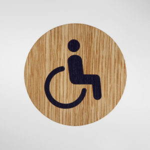 8834 Holt Self Adhesive 'Disabled' Sign