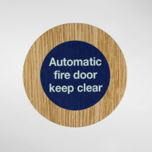 8847 Holt Automatic Fire Door Keep Clear Sign