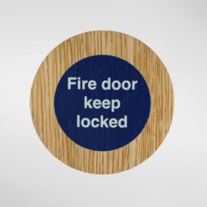 8848 Holt Self Adhesive 'Fire Door Keep Locked' Sign
