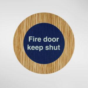 8849 Holt Self Adhesive 'Fire Door Keep Shut' Sign