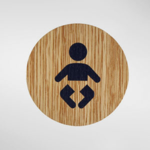 8857 Holt Self Adhesive 'Baby Change' Sign