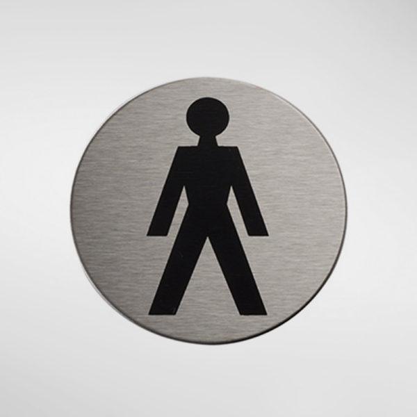 98932 Alite Circular Self Adhesive 'Male' Sign