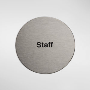 98954 Alite Circular Self Adhesive 'Staff' Sign