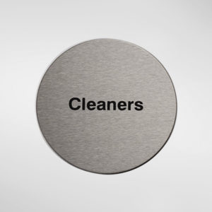 98955 Alite Circular Self Adhesive 'Cleaners' Sign