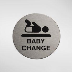 98957 Alite Circular Self Adhesive 'Baby Change' Sign