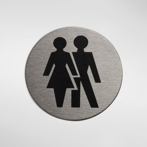 98934 Alite Circular Self Adhesive 'Unisex' Sign