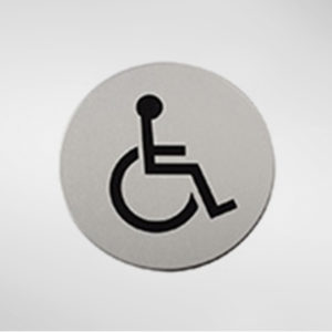 98935 Alite Circular Self Adhesive 'Disabled' Sign