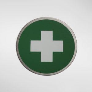 "98959 Alite Circular Self Adhesive ""First Aid' Sign"