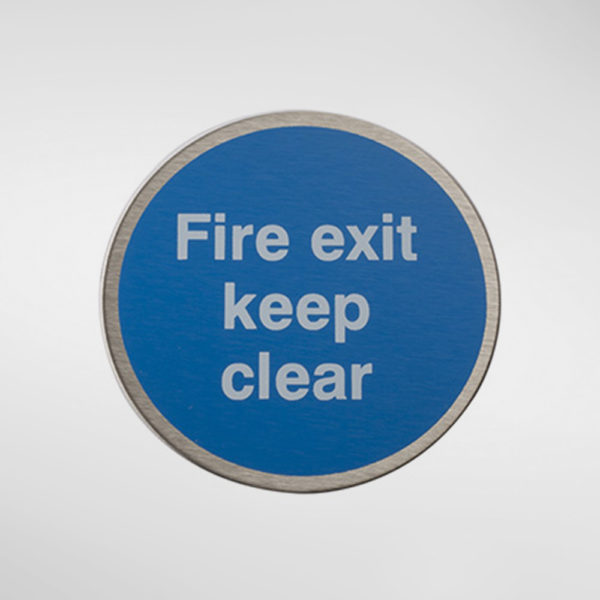 98950 Alite Circular Self Adhesive 'Fire Exit Keep Clear' Sign