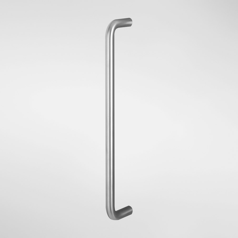 Brushed Or Polished D Pull Door Handles Bolt Through Fixings 22 x 400mm Centres
