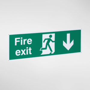 30055D Allgood Hardware Fire Exit Sign