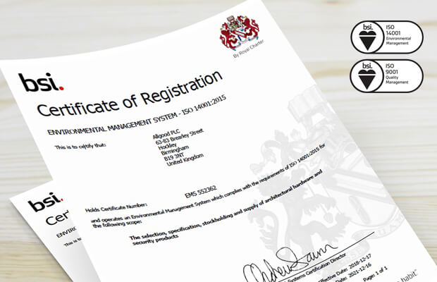 ISO 9001 and ISO 14001 Renewal