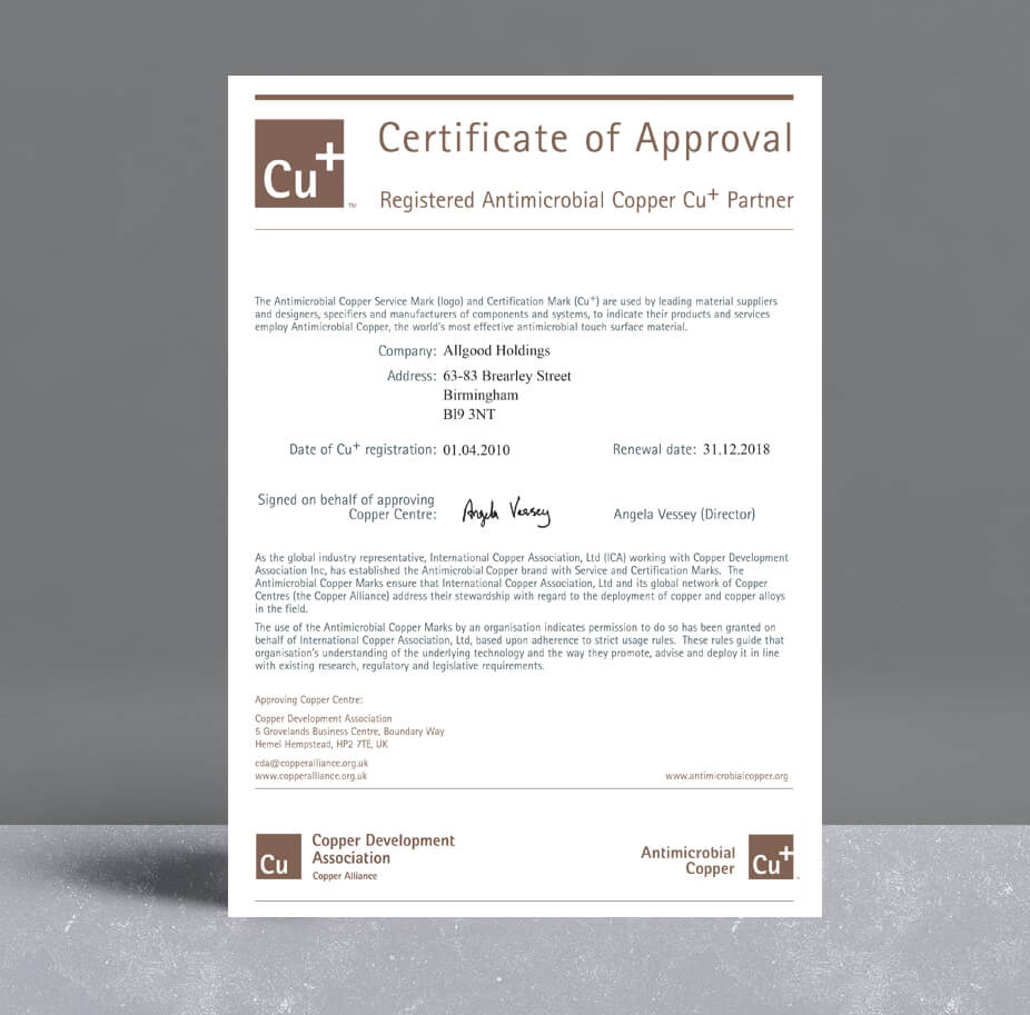 Allgood CU Certificate of Approval