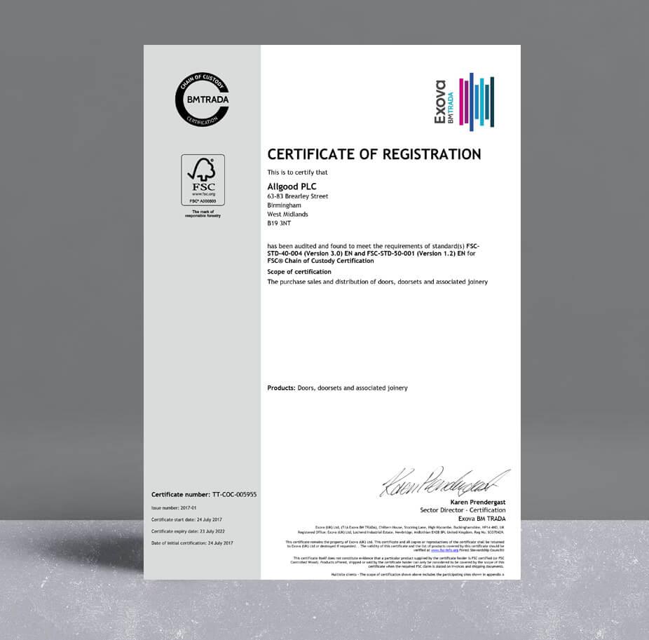 Allgood FSC Certificate
