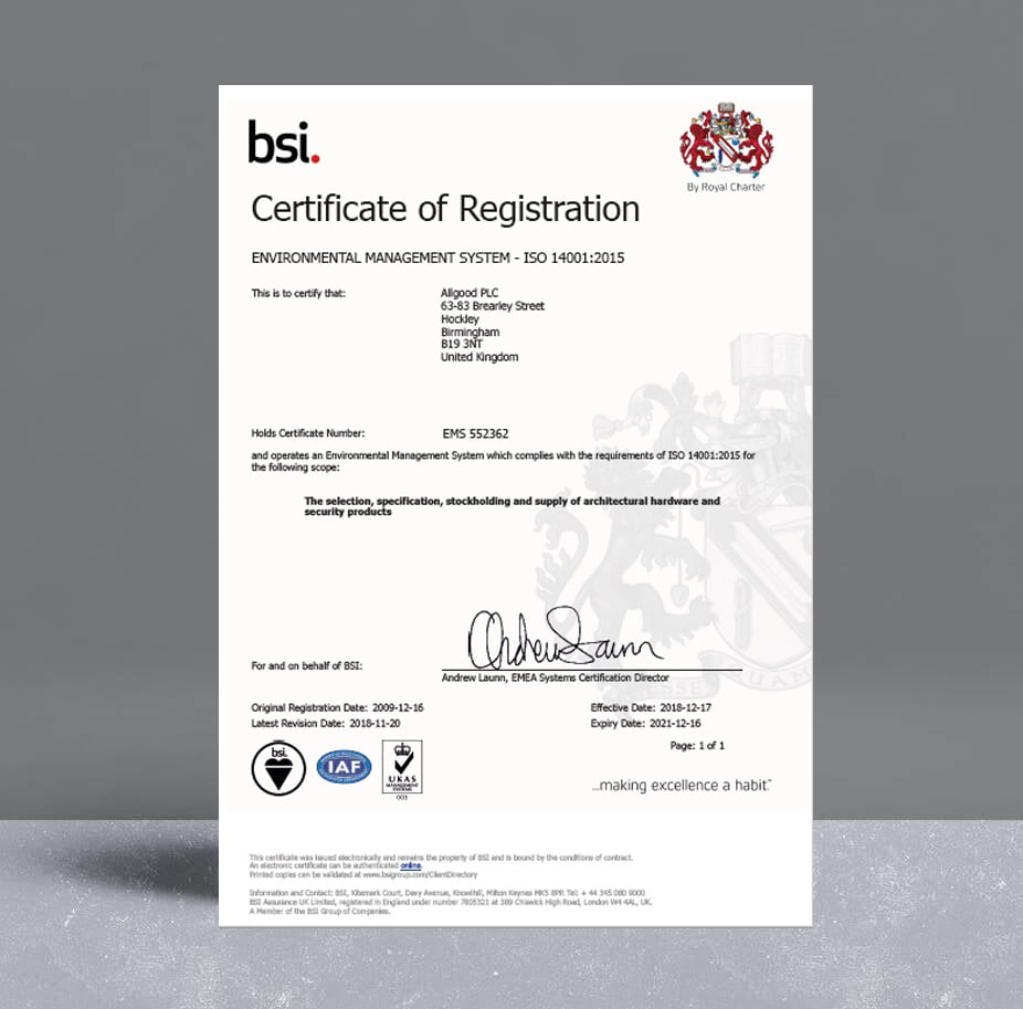Allgood ISO 14001