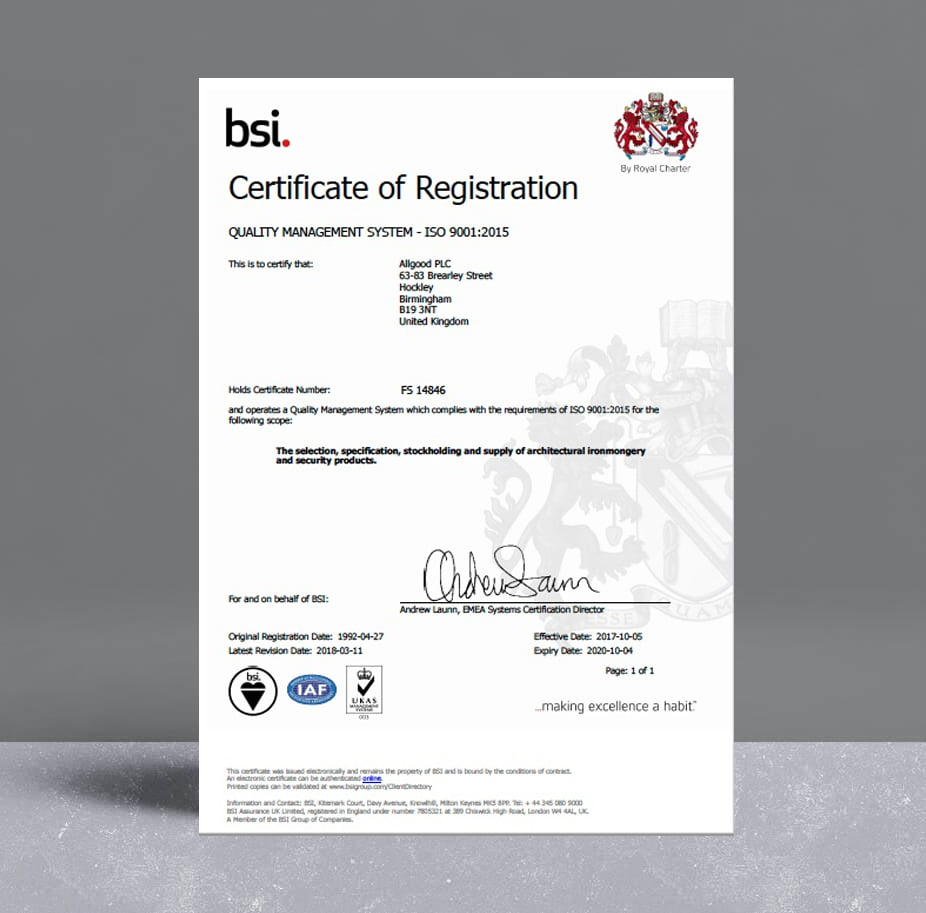 Allgood ISO 9001