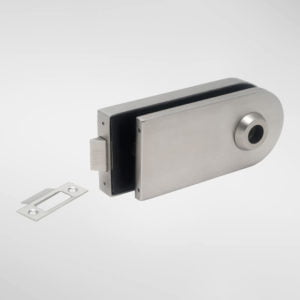 813 Allgood Glass Horizontal Latch Patch Fitting