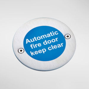 8447 Modric Automatic Fire Door Keep Clear Sign