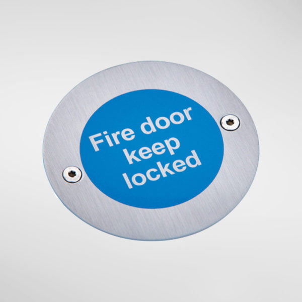 8448 Modric Fire Door Keep Locked Sign