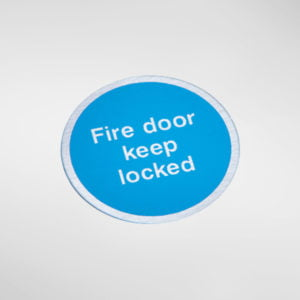 8448S Modric Self Adhesive 'Fire door keep locked' Sign