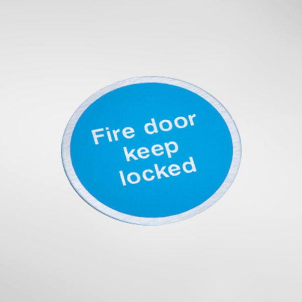 8448S Modric Self Adhesive 'Fire door keep locked' Sign