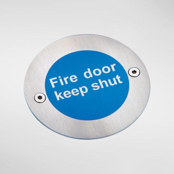 8449 Modric Fire Door Keep Shut Sign