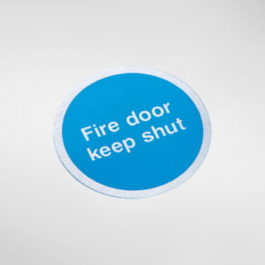 8449S Modric Self Adhesive 'Fire door keep shut' Sign