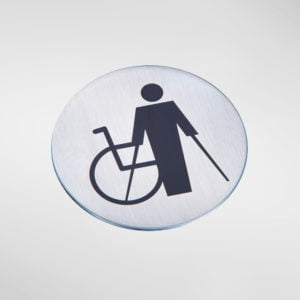 8535 Modric Self Adhesive 'Disabled' Sign