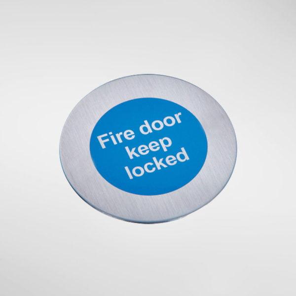 8548 Modric Self Adhesive 'Fire door keep locked' Sign