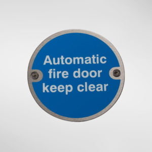 97947 Alite Automatic Fire Door Keep Clear Sign