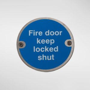 97948 Alite 'Fire Door Locked Shut' Sign