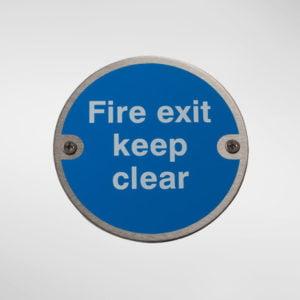 97950 Alite Fire Door Keep Clear Sign