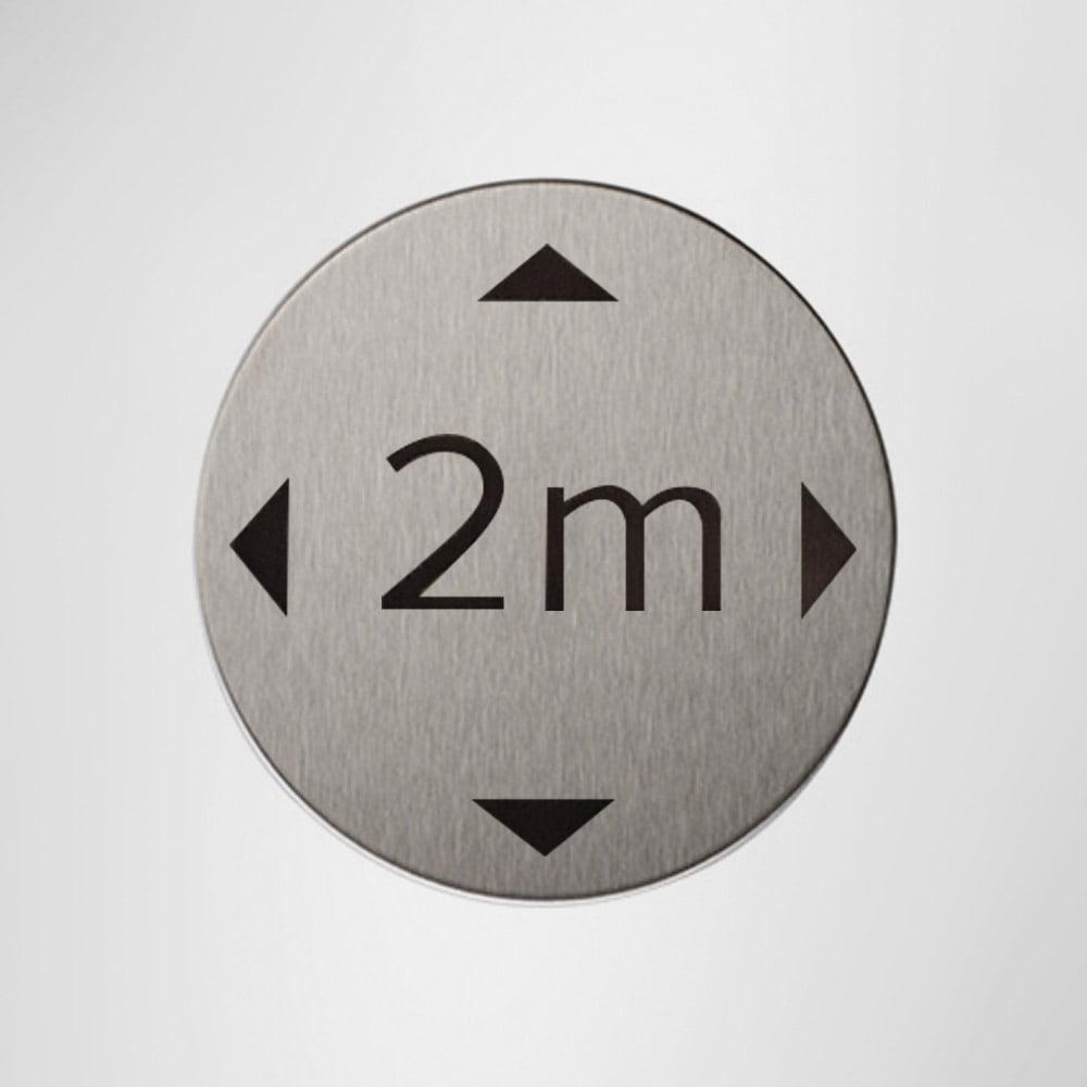 XX9892MSS Modric Social Distance Self-Adhesive Sign